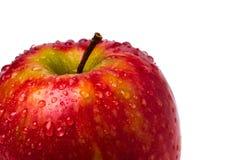 Apple un il giorno. Isolato contro fondo bianco. Immagini Stock Libere da Diritti