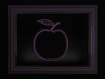 Apple in una struttura Fotografia Stock Libera da Diritti
