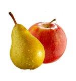 Apple und Birne Lizenzfreies Stockfoto