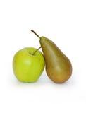 Apple und Birne Stockfoto