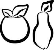 Apple und Birne Stockbilder