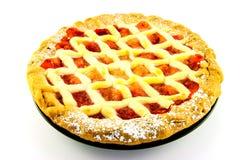 Apple-und Erdbeere-Torte Stockfotografie