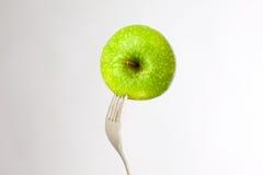 Apple und Gabel Lizenzfreies Stockbild