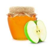 Apple und Honig Lizenzfreies Stockfoto
