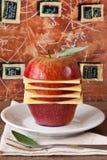 Apple und Käse. Lizenzfreie Stockfotos