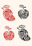 Apple und Mango Lizenzfreie Abbildung