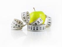Apple und messendes Band Stockbilder