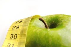 Apple und messendes Band für einen gesunden Lebensstil 3 lizenzfreies stockbild