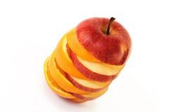 Apple und Orange lizenzfreie stockbilder