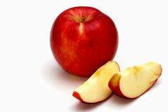 Apple und Scheiben Stockfoto