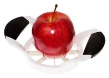 Apple und Schneidmaschine Lizenzfreies Stockbild