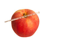 Apple und Thermometer lizenzfreie stockfotografie