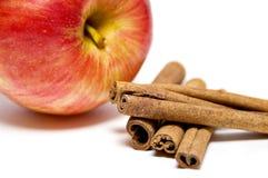 Apple und Zimt Lizenzfreie Stockfotografie