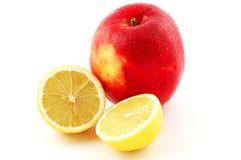 Apple und Zitrone Stockfoto