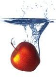 Apple under wate Stock Image