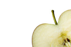 Apple up close. Apple up close macro including pips Royalty Free Stock Images