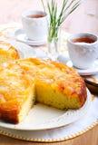 Apple upside down sponge cake Stock Photo