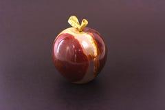 Apple van onyxsteen die wordt gemaakt Stock Afbeelding