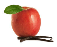 Apple with vanilla Royalty Free Stock Photo