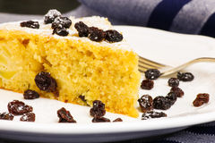 Apple Vanilla Ginger Cake With Black Currants Stock Image