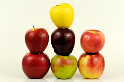 Apple varieties royalty free stock images