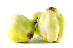 Apple variety called quince or cotogna oblonga Stock Photos