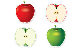 Apple vector Royalty Free Stock Image