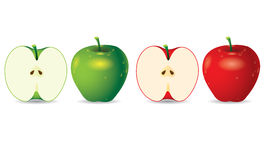 Apple vector Royalty Free Stock Photography