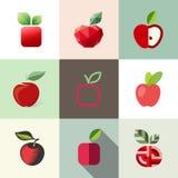 Apple. Vector geplaatste embleemmalplaatjes Royalty-vrije Stock Foto