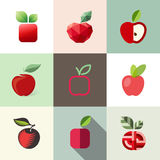Apple. Vector logo templates set Royalty Free Stock Photo