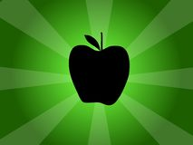 Apple Vector Silhouette Illustration Royalty Free Stock Photography