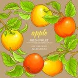 Apple vektorram Royaltyfria Bilder