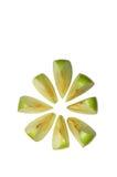 Apple verde affettato immagini stock
