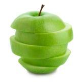 Apple verde cortado fotografia de stock