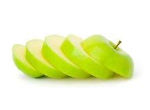 Apple verde cortado Fotos de Stock