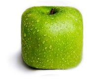 Apple verde cuadrado aislado Fotos de archivo