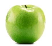 Apple verde en blanco Imagenes de archivo