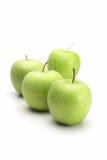 Apple verde fresco no fundo branco Imagem de Stock Royalty Free
