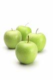 Apple verde fresco no fundo branco Imagem de Stock
