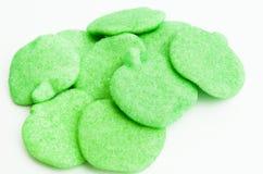 Apple verde Gummies Fotografia Stock Libera da Diritti