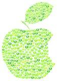 Apple verde morde ilustração stock