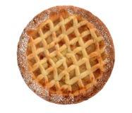 Apple vergittern die Torte, die auf Weiß lokalisiert wird Stockbilder