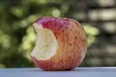 Apple vermelho delicioso com uma mordida fora dela imagens de stock royalty free