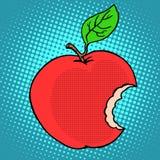 Apple vermelho mordido ilustração do vetor