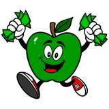 Apple vert avec l'argent Images libres de droits