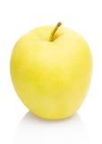 Apple vert d'isolement sur le blanc Image libre de droits