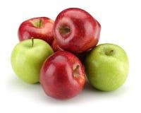 Apple vert et rouge groupent Photos stock