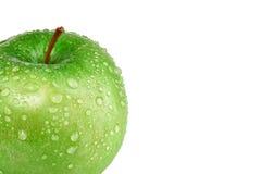 Apple vert humide Images libres de droits