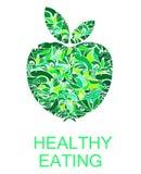 Apple vert signent, symbole, emblème ou logo Photographie stock libre de droits