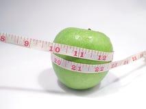 Apple vert suivant un régime images libres de droits